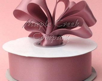 1/4 inch x 100 yards of Rosy Double Face Satin Ribbon
