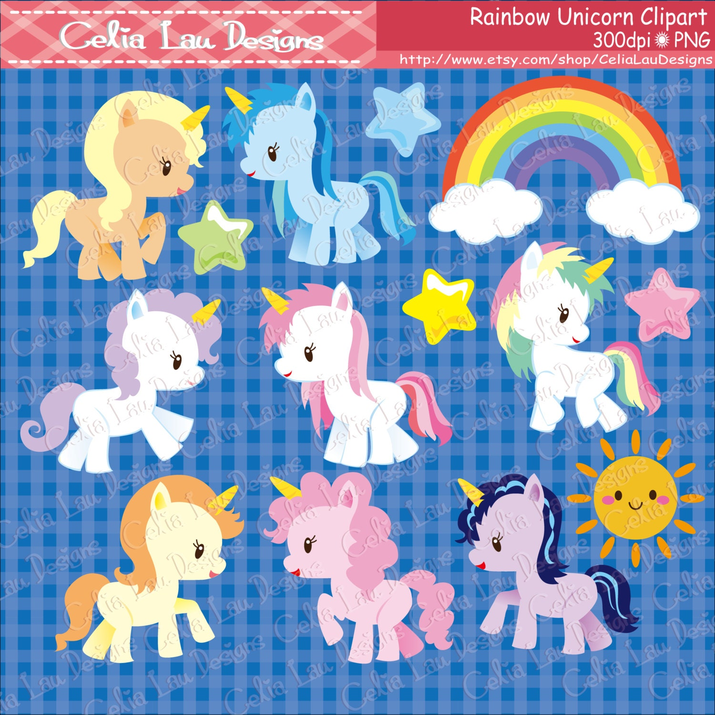 rainbow unicorn clipart - photo #47