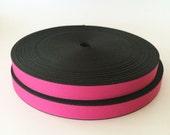 1 inch Heavyweight PINK Nylon Webbing- 10 yards