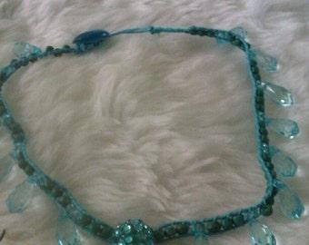 Turquoise Blue Beaded Choker