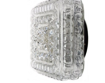 Flush mount lighting clear crystal glass