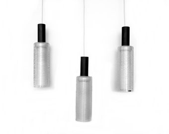 "Vintage hanging lamp cascades light 1960s ""DORIA"""