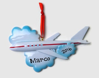 Airplane ornament | Etsy