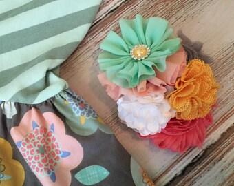 Girls headband hair bow M2M Matilda Jane Decadent Cake Walk