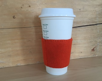 Felt Cup Sleeve - Orange/Charcoal