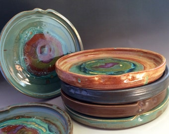 Handmade Ceramic 8.5 inch Rustic Round Plate