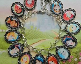 Disney Princesses Charm Bracelet
