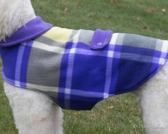 Fleece Dog Coat - Purple