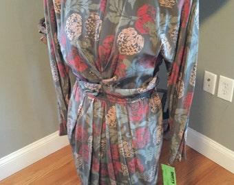 100% silk S/M vintage dress