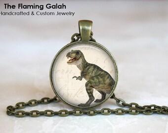 DINOSAUR Pendant •  T-Rex • Tyrannosaurus Rex • Dinosaur Gift • Vintage Dinosaur • Jurassic Gift • Gift Under 20 • Made in Australia (P1139)