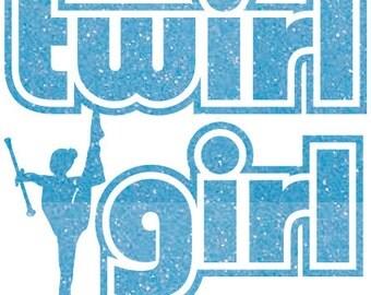 Twirl Girl Iron On Decal