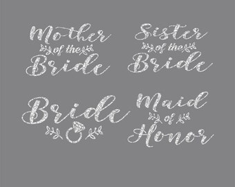 Bride Bundle Leaves of Love Iron On Decals