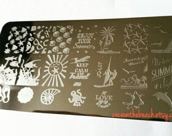 Nail stamping plaque pour stamping nail art-QC-L07
