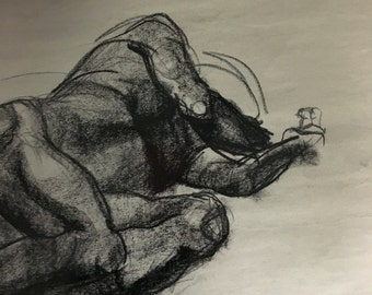"""Charcoal Figure Drawing 