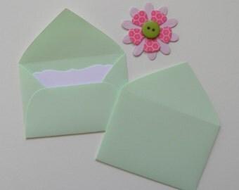 Mint green Mini envelopes, Inserts optional, Paper ephemera, Paper embellishments, Journaling, Project Life, Free shipping world wide