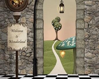Welcome to Wonderland Backdrop / Photo Backdrop For Baby, Kids Photo Shoots, Photo Studio Backdrop, (FD5141)