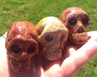 Soapstone Skull, Samhain, Halloween, Magic, Spells, Use on Crystal grid, Altar, Skull, Hand Carved from Peru!
