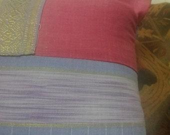 Decorative pillow ,Pink & perpel