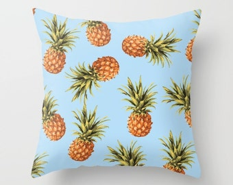Pineapple Pillow Cover Pineapple Cushion Cover Pineapple Decor Modern Decor Tropical Pillow Cover 18x18 or 20x14