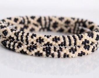 Beaded Nepal Roll On Bracelets- Nepal Bracelets- Matching Friendship Bracelets- Stacking Seed Bead Yoga Bracelets- Gypsy Bohemian Jewelry