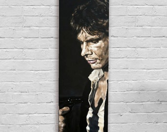 Koona T'chuta Solo? (Going Somewhere Solo?) - Han Solo / Harrison Ford  Greedo Gun Star Wars Canvas Art Print