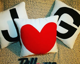 Initials Pillows - *Customized* Set of 3.