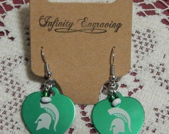 MSU Spartan Earrings