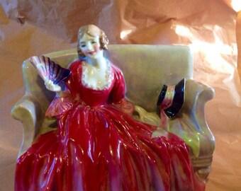 Royal Doulton figurine, Sweet & Twenty, Royal Doulton figure,  HN 1298, 1940's, china figurine
