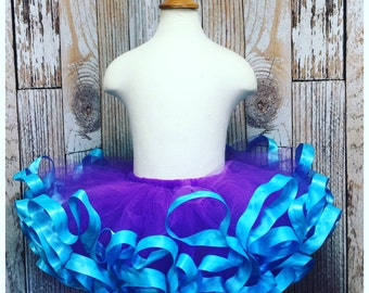 2T - 4T Ribbon Trimmed Tutu - design your own - custom ribbon trimmed tutu - birthday tutu