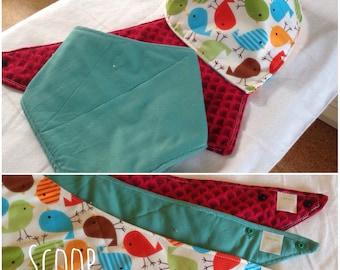 Kerchiefs: custom drool bibs