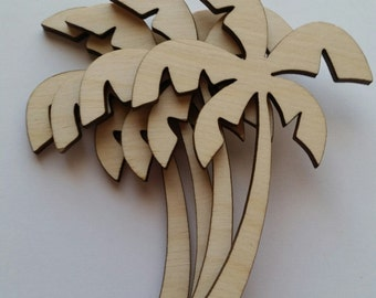 Wooden Palm Tree Cut Outs ( DIY Crafts, Scrap Booking, Embellishments )