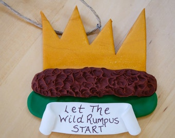 Wild Rumpus Crown Keepsake Ornament - Wild Things - Personalized - Ready to Ship