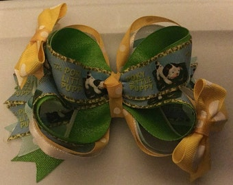 StoryBook Boutique Bow, Boutique Bow, Pokey Little Puppy Boutique Bow, Pokey Little Puppy Clip, Back To School