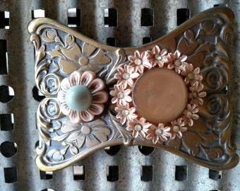 Prairie Flower-Cowgirl Floral  Belt Buckle