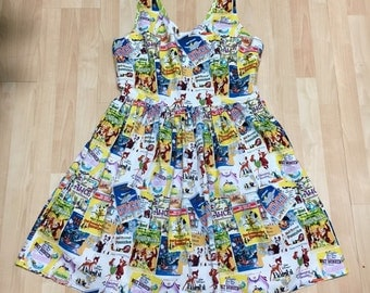 Dress Made with Classic Disney Posters Fabric