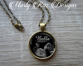 Ultrasound jewelry - personalized baby jewelry -  baby ultrasound souvenir -  new parents gift - new grandparents gift