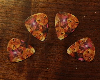 4 GALAXY CATS guitar picks