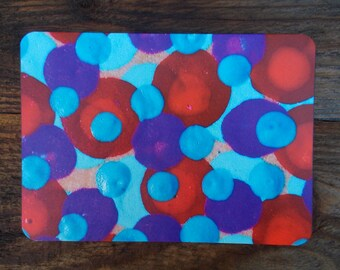 SALE Colorful HELLO Greeting Card Polka Dots Note Cards
