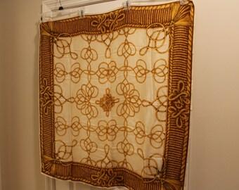 Vintage Gold Rope Silk Scarf