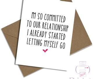 Funny Birthday card Husband Wife Girlfriend Boyfriend anniversary funny joke