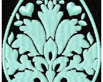 Machine Embroidery Design - Damask Easter Egg