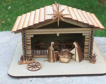 Laser cut Nativity Kit