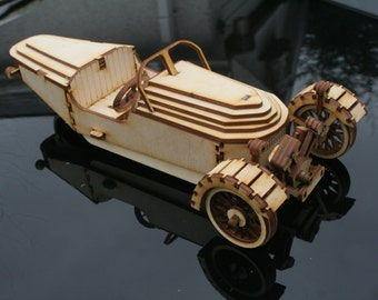 Wooden Model Morgan 3 wheel kit