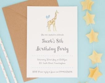 Childrens Party Invitations - Birthday Invitations - Children's Birthday Party Invitations - Personalised Invites - Party Invites-Kids Party
