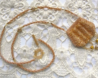 Gold Victorian Amulet Bag