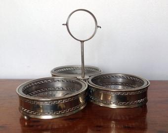 Vintage Silver Plate Jam/Condiments Server. 1950's.