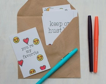 Lunch Box Notes - Back to School / Emoji Cards / Kids Lunchbox / School Supplies / PersonalizedKids / Kids Stationery / Stationary