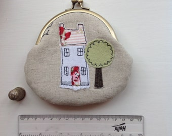 Coin purse  - House with tree