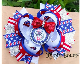 Fourth of July Boutique Hair Bow!