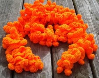Women crochet scarf crochet ruffle scarf crochet women scarf crochet spiral scarf crochet scarf women  crochet scarves gift for her scarf